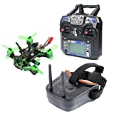 FEICHAO Mantis85 85mm RC FPV Micro Racing Drone RTF with 600TVL Camera VTX & Double Antenna Mini Video Goggles