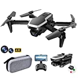 allcaca S171 Mini Faltbare Drohne RC-Quadcopter mit 4K-Doppelkameras | kopfloser Modus | Höhe halten | 3D Flip | Flugbahn | Sprachsteuerung | Start mit Einer Taste | Landung für Anfänger, Schwarz