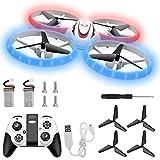 Herefun Mini Drohne für Kinder, Anfänger, Mini Drohne Set mit 2 Akkus und USB, Indoor RC Quadrocopter, 3D-Flip, Automatische Ferngesteuertes Kopflos Headless Modus Helikopter Spielzeug Geschenk