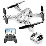 SNAPTAIN A10 Mini Faltbare Drohne mit 720P HD-Kamera FPV WiFi RC Quadcopter mit Sprachsteuerung, Gestensteuerung, Flugbahn, Kreisflug, 3D-Flips, G-Sensor, Kopfloser Modus