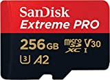 SanDisk Extreme Pro 256GB microSDXC Memory Card + SD Adapter with A2 App Performance + Rescue Pro Deluxe 170MB/s Class 10, UHS-I, U3, V30