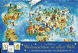 Weihnachten in aller Welt: Adventskalender mit 24 Büchern (Adventskalender mit Geschichten für Kinder / Mit 24 Mini-Büchern)