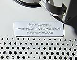 Roboterwerk Drohnen-Kennzeichen aus Aluminium Micro, Drohnenplakette inkl. Nachsendung der ab 2021 geforderten e-ID, 1 - 3 Zeilen