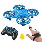 Dragon Touch Mini Drohne für Kinder, DK01Quadrocopter Mini Helikopter mit Kopfloser Modus Farbige LED, 3D Flips, G-Sensor-Modus, Höhenhalt, 3 Geschwindigkeitsmodi, Throw'n
