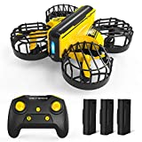 Holy Stone HS450 Mini Drohne für Kinder,RC Quadrocopter ferngesteuerte mit Fernbedienung und Handsteuerung,Nano Drone mit 3 Batterien Lange Flugzeit,Höhenhaltung,3D Rollen,Stunt Flug für Anfänger
