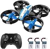 Holy Stone HS210 Mini Drohne für Kinder,RC Quadrocopter Mini Drone mit 3 Akkus,21 Min. Lange Flugzeit,Automatische Höhenhaltung,360°Rollen,Kopfloss Modus,One Key Start Anfänger Blau