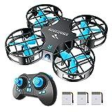 SNAPTAIN H823H Mini-Drohne für Kinder, 21 Minuten, Laufzeit 3 Batterien, Flugzeug, Hubschrauber, Headless-Modus, Höhenhaltung, Bedienung mit einem Knopf, 360° Flips für Anfänger und Kinder