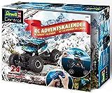 Revell 01026 RC Adventskalender, 4WD Offroad-Crawler, mit GHz-Fernsteuerung und Batterien, 27,5 cm in 24 Tagen zum selbstgebauten, ferngesteuerten Auto, ab 8 Jahre, blau